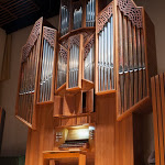 Salem College's Flentrop organ. Photo by Salem College.