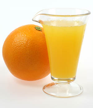 Given two identical orange juices of a slightly different color, people will taste a difference that isn't there.