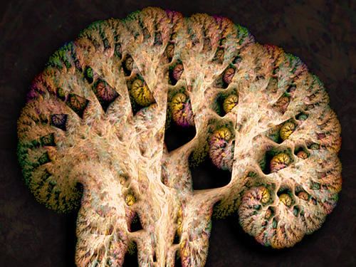 Fractal brain, by Cory Ench. http://www.enchgallery.com/