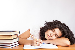 Studying at the expense of sleep may be a formula for academic disaster. Photo by CollegeDegrees360; used under Creative Commons license.